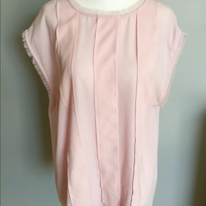 Vince Camuto Mesh Light Pink Blouse
